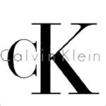 CalvinKlein Logo in greyscale